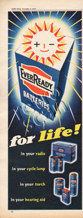 1954 Ever Ready Batteries Solar Light  vintage ad