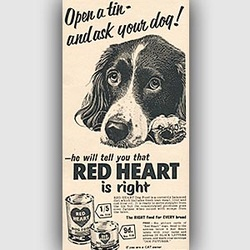 1955 Red Heart Dog Food