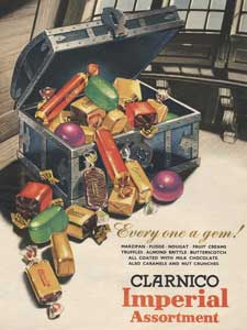 1955 Clarnico Imperial Assortment Treasure Chest