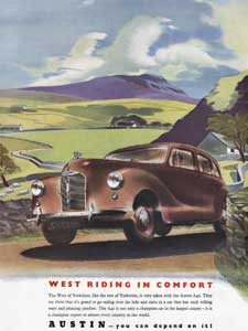 retro Austin A40 advert
