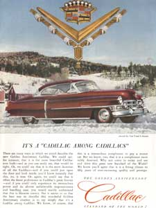 1952 Cadillac Golden Anniversary Vintage Ad