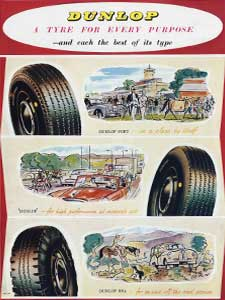600 x 800 1955 Dunlop Tyres vintage full page ad