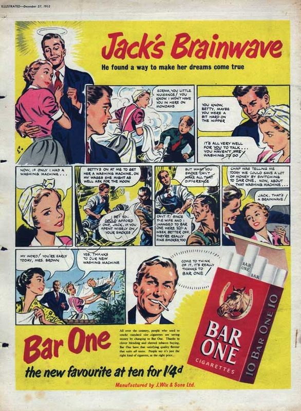1952 Bar One Cigarettes - unframed