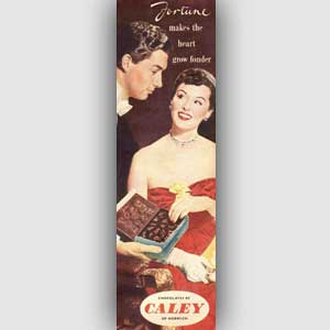 1953 Caley Fortune MIlk Chocolates