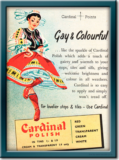 1954 Cardinal Polish  - framed preview vintage ad