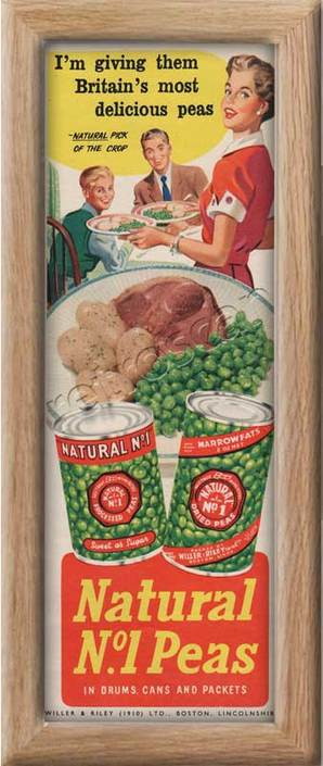 1954 Natural Peas  - framed preview