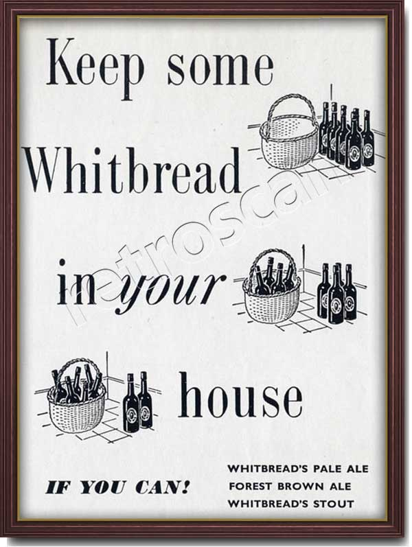 1951 vintage Whitbread Pale Ale ad