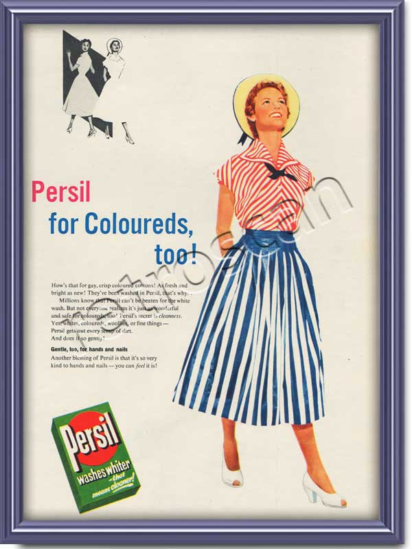 1954 Persil Washing Powder - framed preview