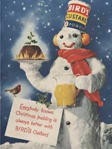1953 Birds Custard Snowman Christmas