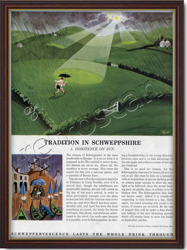 1963 Schweppes Schweppeshire - framed preview