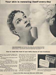 1954 Lux Toilet Soap - Joan Greenwood - vintage