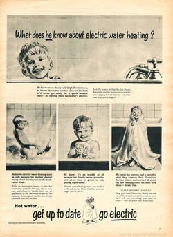 1958 Electricity Development Council - unframed vintage ad