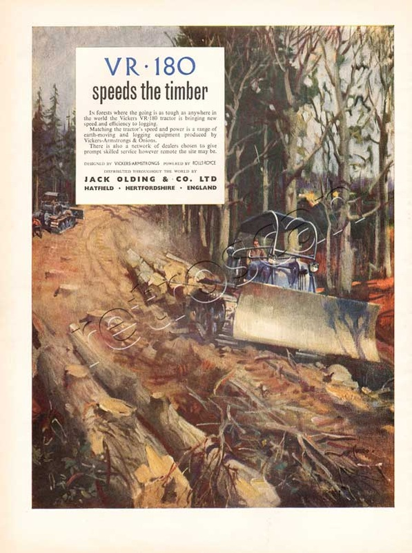 1953 Vickers VR-180 Mechanical Digger - unframed vintage ad