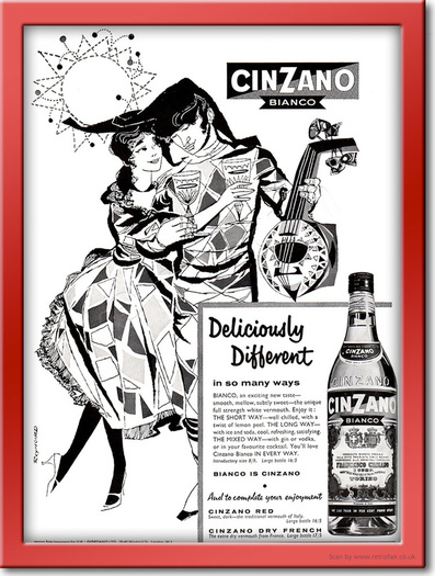 1961 Cinzano Vermouth - framed preview retro