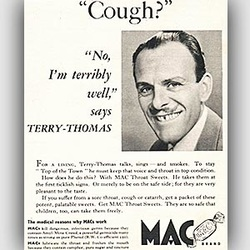 1954 Mac Throat Sweets - Vintage Ad