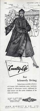 1950 Country life by Burnett vintage ad