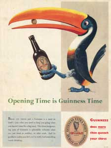 1953 Vintage Guinness Toucan - unframed