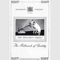 1950 HMV (His Master's Voice) - vintage ad