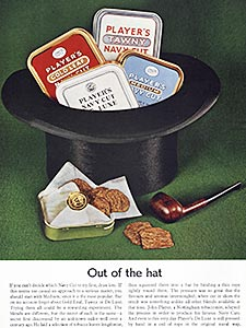 1962 Player's Navy Cut Tobacco - vintage ad