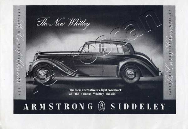 1952 Armstrong Siddeley - Whitley vintage ad