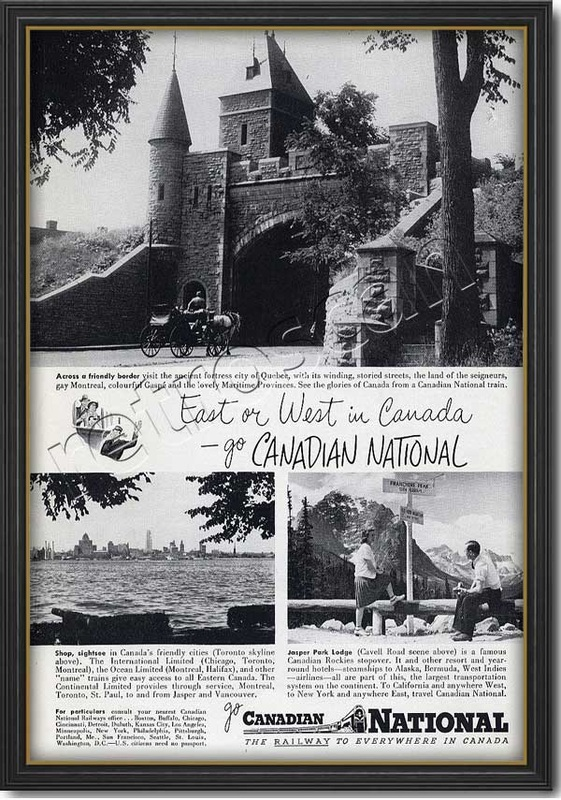 1948 Canadian National Railways  - framed preview