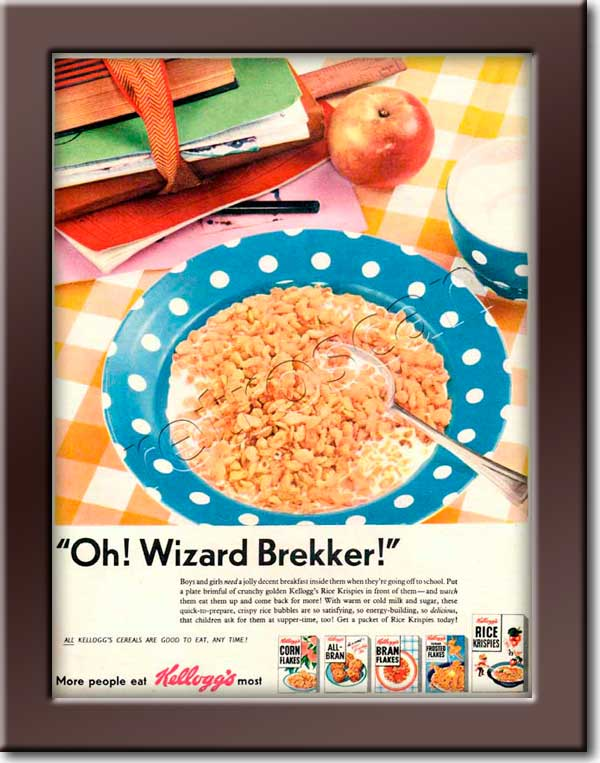 1955 Kellogg's Cereals retro advert