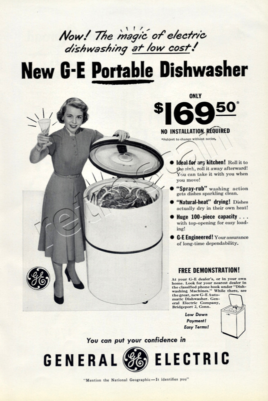 1950 General Electric Portable Dishwasher
