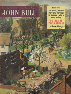 1955 May John Bull Vintage Magazine village riding stables  - unframed