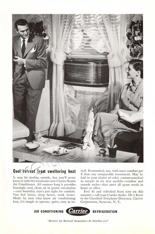1950 Carrier Air Conditioning  vintage ad