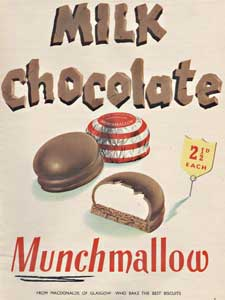 1954 Munchmallow Tea Cakes Vintage Ad
