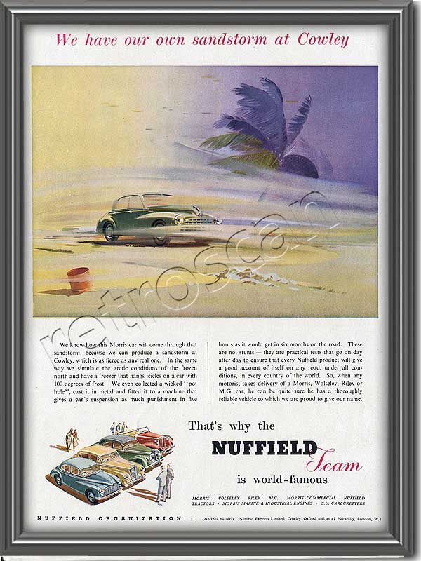 1952 vintage Nuffield advert