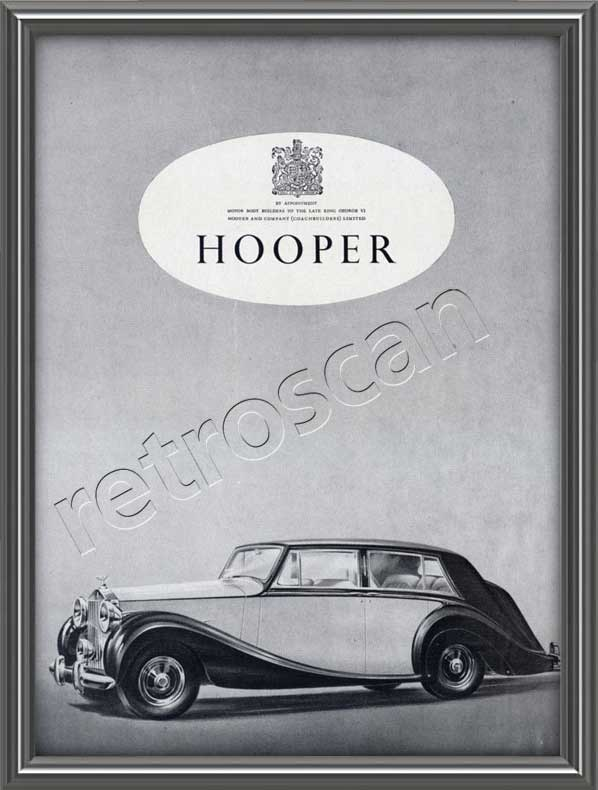 1953 vintage Hooper Touring Limousine advert