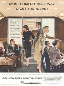 1955 Lockheed Super Constellation Vintage Ad