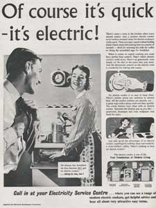 Vintage Electricity service ad