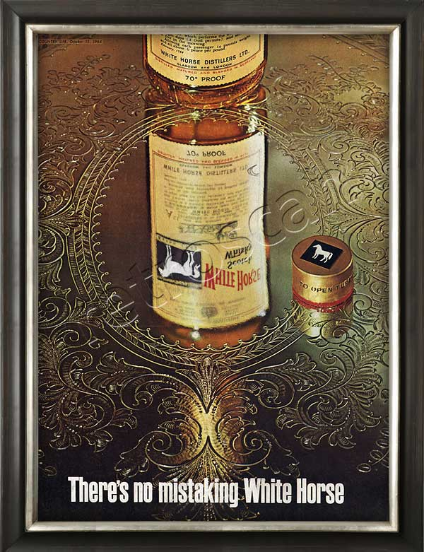 1964 White Horse Scotch Whiskey - framed preview