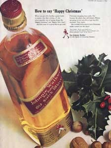 1964 Johnnie Walker Christmas Ad