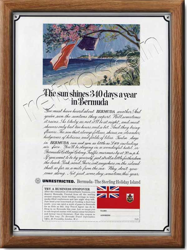 1966 Bermuda Tourism - framed preview