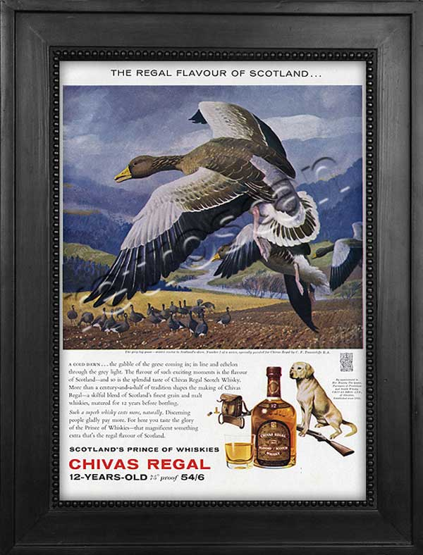 1962 Chivas Regal with illustration of grey goose - framed preview