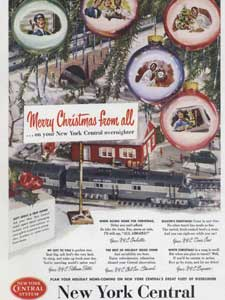 1950 New York Central Christmas