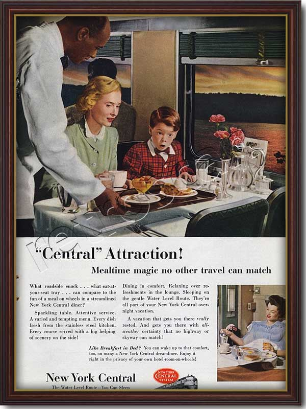 1952 vintage New York Central advert