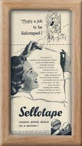 1954 vintage Sellotape vintage advert