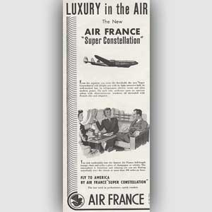 1953 Air France Super Constellation Vintage Ad