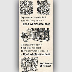 1954 ​Brewers' Society retro ad