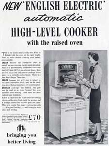 English Electric Cooker advert