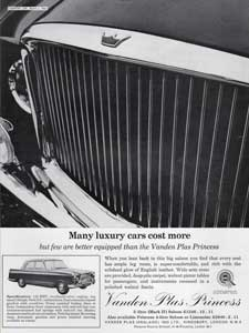 1964 Vanden Plas retro advert