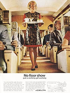 1969 ​Delta Airlines vintage ad