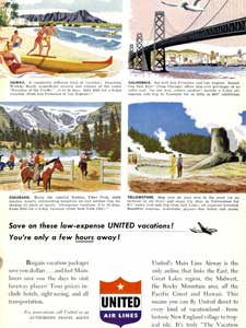 1950 United Airlines - vintage ad