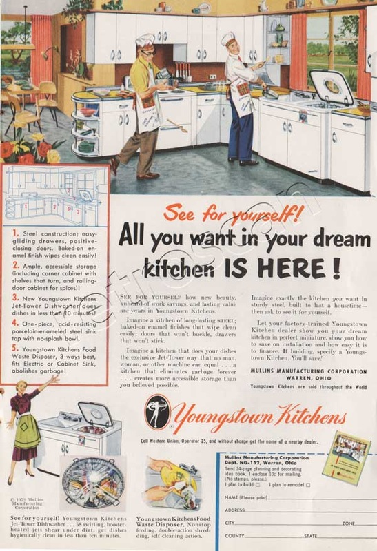 1952 Youngstown Kitchens vintage ad