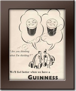 1950 Guinness Stout - framed preview vintage ad