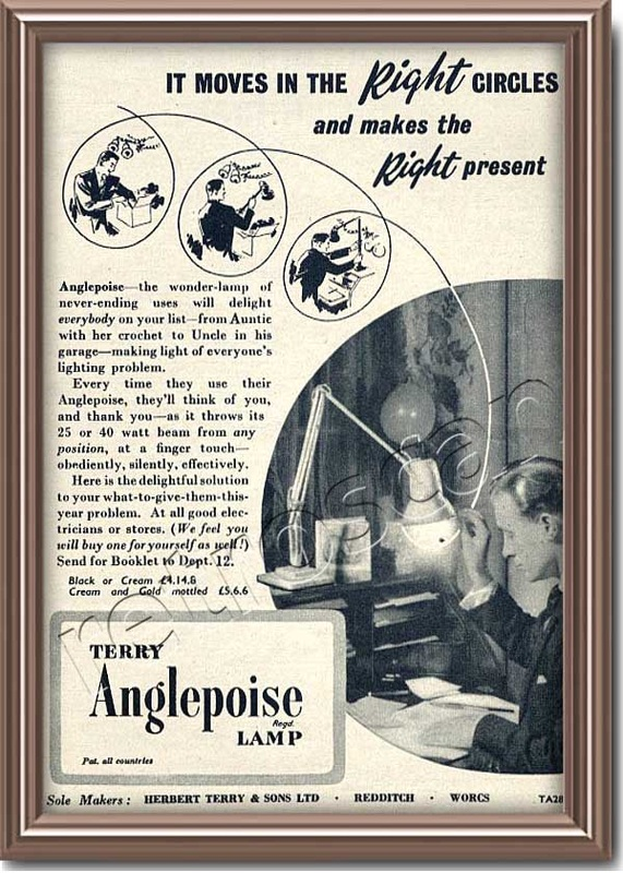 1953 vintage  Anglepoise Lamps advert